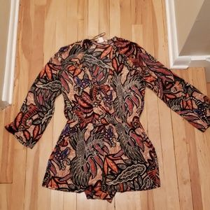 African Patterned Romper with Pockets from H&M